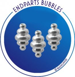 THREADED ENDBEAD - BUBBLES