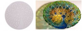 PEACOCK TEXTURE TILE MOLD - 11in