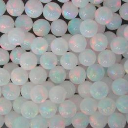 WHITE SPHERE 3mm OPALS by GILSON OPALS