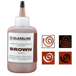 BROWN GLASSLINE PEN