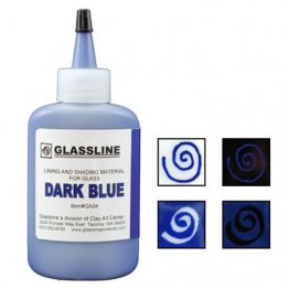 DARK BLUE GLASSLINE PEN