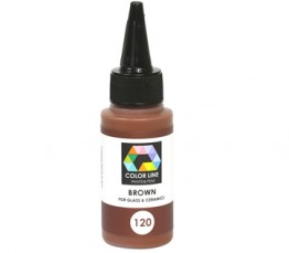 COLOR LINE PAINT BROWN