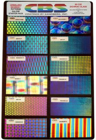 DICHROIC CRINKLIZED PATTERNS GALORE PIECES - 96 COE