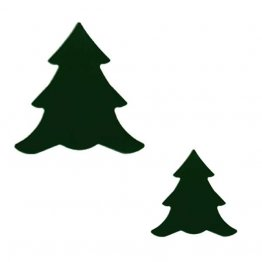 PRE CUT FUSIBLE TREE - DARK GREEN - 96 COE