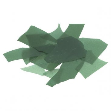 AVENTURINE GREEN TRANSPARENT FRACTURES - CONFETTI #1112 by BULLSEYE GLASS