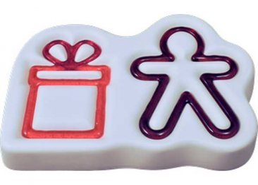 GINGERBREAD & GIFT MOLD by COLOUR DE VERRE