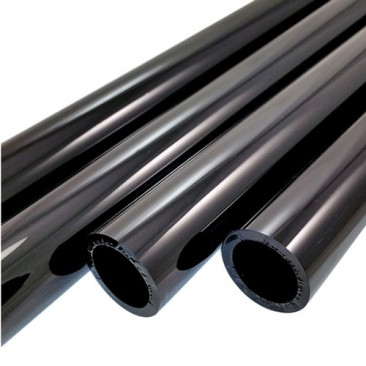 BLACK OPAQUE BORO TUBE -  44mm x 4mm - IMPORTED