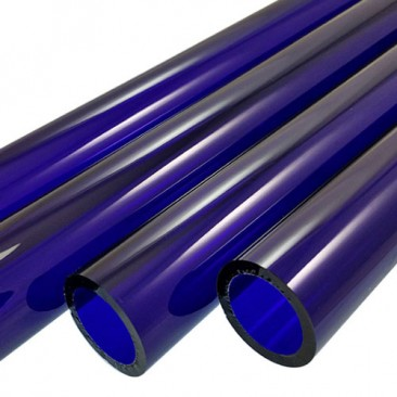 BRILLIANT BLUE BORO TUBE -  9mm x 2mm - IMPORTED