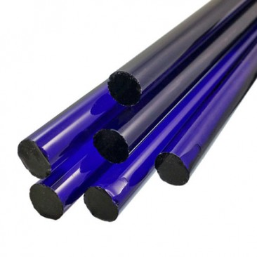 BRILLIANT BLUE BORO ROD - 7 - 9mm