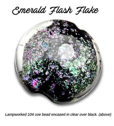 EMERALD FLASH FLAKE by LUMIERE LUSTERS™