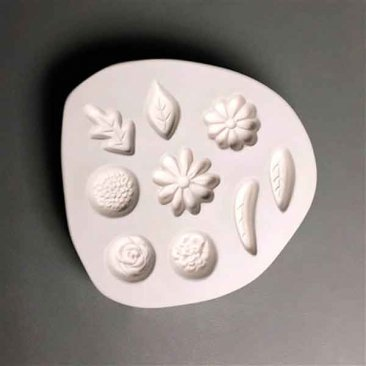 SMALL LEAVES & FLOWERS MOLD by CPI