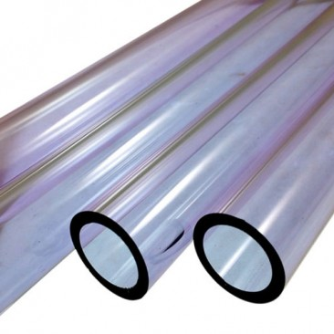 PURPLE AMETHYST BORO TUBE -  9mm x 2mm - IMPORTED