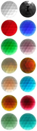 ROUND FACETED JEWELS - 50mm (CLEAR AND ALL COLOURS)