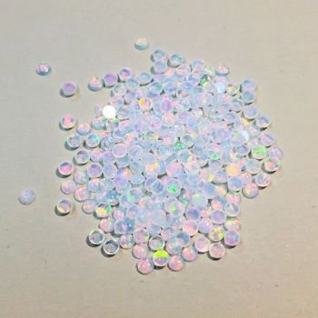 WHITE ROUND 2mm OPALS by GILSON OPALS
